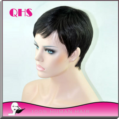cheap lace front wigs human brazilian Hair Wigs none Lace guleless full lace  Wigs very short Hair wigs for Black Women-in Human Hair Lace Wigs from Hair  ... cf33208e3