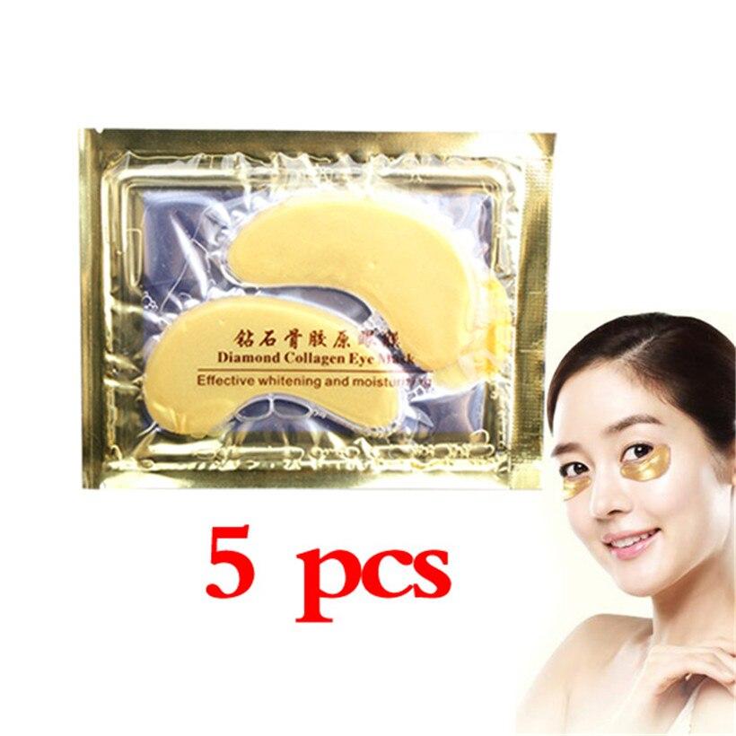 5 Pair Eye Mask Crystal Collagen Anti-Wrinkle  Patch Deep Water Moisture (Mascara Para Los Ojos Oogmasker Maska Na Oczy )