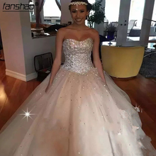 Ball-Gowns Quinceanera-Dresses Beading Tulle Sweetheart Sparky Princess Crystal Lace-Up