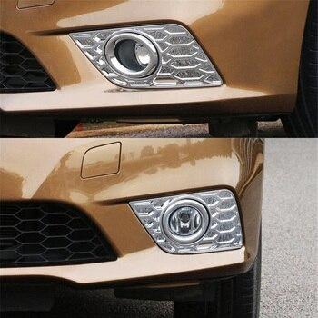 2 قطعة/زوج السيارات سيارة الجبهة الضباب ضوء مصابيح Foglight سيارة غطاء تريم التصميم ملصق صالح لنيسان بلوبيرد سيلفي 2016 ABS