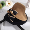 2017 new sun hat casual Summer hats for Women's Ladies' Foldable Wide Large Brim Floppy Beach Hat Sun Straw Hat Cap Women