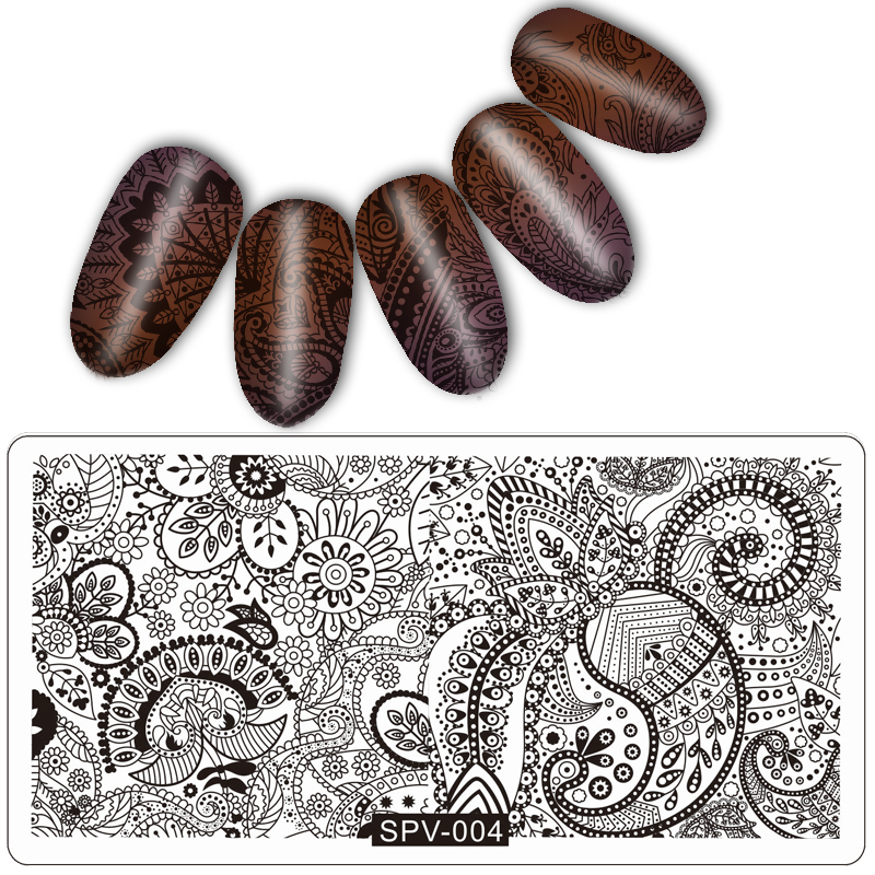 New Arrival 1 PC Nail Art Print Stamping Plates Nail Template Beauty Stencil Manicure DIY Styling Pretty Good Tools in Nail Art Templates from Beauty Health