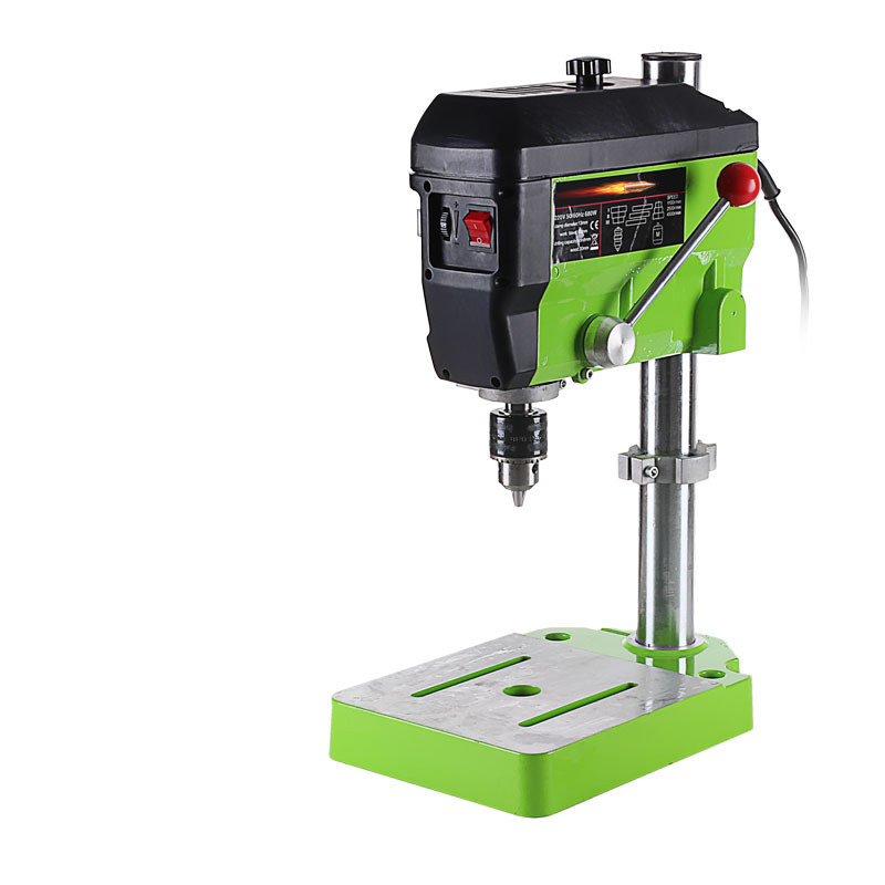 Mini Drill Press Bench 680W High Speed 4500RPM 220V Drilling Machine 60mm Stroke 13mm Clamping  цены
