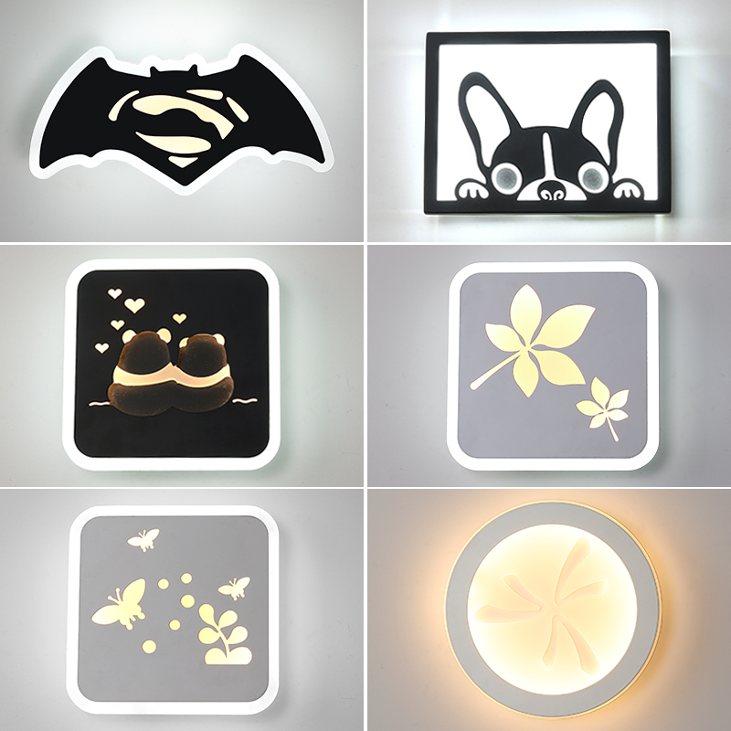 Led Wall Lamp LED Sconce Light Acrylic Modern Home Decoration wall Light for Bedroom Homes Wall decor Aconce Light art Modern beiaidi e14 creative led wall lamp flower lampshade projection shadow wall light nordic acrylic wall art home decor ornament