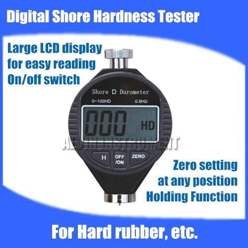 Free shipping Digital Shore Hardness Tester Meter shore Durometer Rubber Hardness Tester Type D  For Hard rubber etc.  цены
