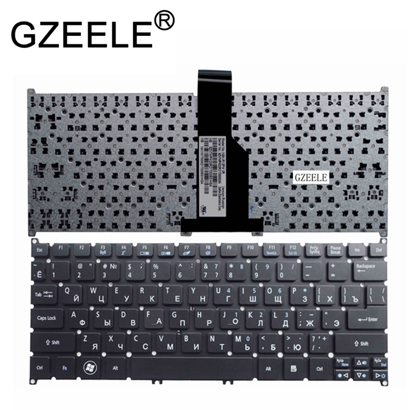GZEELE New Russian Laptop Keyboard For ACER Aspire ONE B113 725 726 AO765 756 MS2346 V5-131 V5-121 V5-171 RU Layout Black