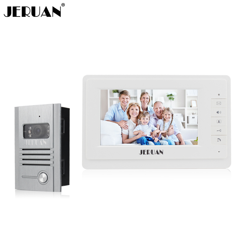 JERUAN 7 inch video door phone intercom system doorbell doorphone speaker intercom  Embedded outdoor free shipping jeruan new doorbell intercom doorphone wireless video door phone with memory image station outdoor night vision function