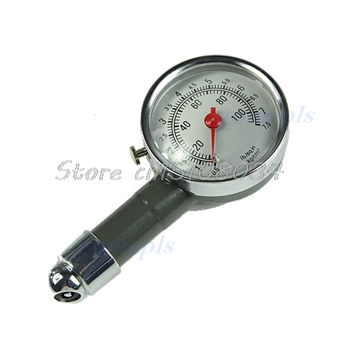 Precision Pressure Gauges : Car dial tire gauge meter precision pressure tyre measure