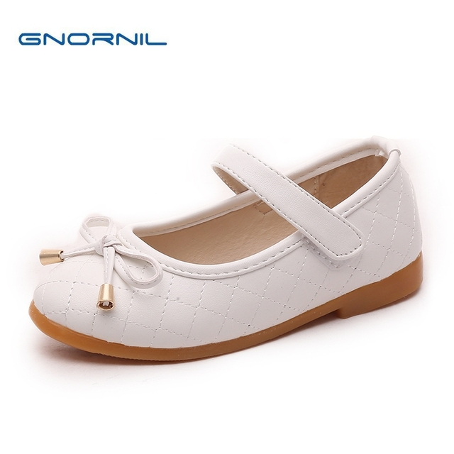 Party Girls Shoes 2018 Spring Autumn Fashion Children Shoes Girls Princess  Leather Shoes Students Dance Shoes Kids Flats