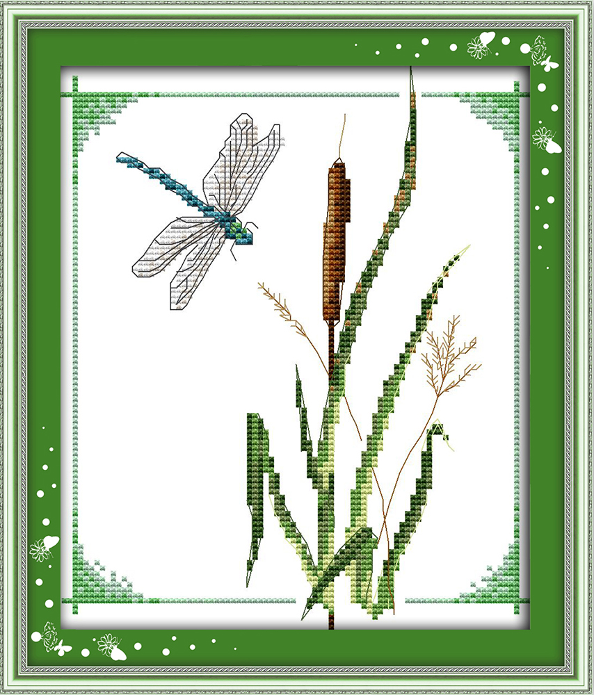 Dragonfly cross stitch kit animal small picture 18ct 14ct 11ct ...