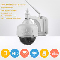 1080P PTZ Wireless IP Camera 2MP Speed Dome Outdoor Security CCTV Camera 2 7 13 5mm