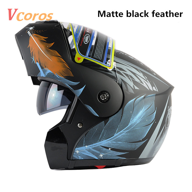 free shipping 2016 YEMA brand flip up motorcycle helmet full face double lens helmets casco capacete