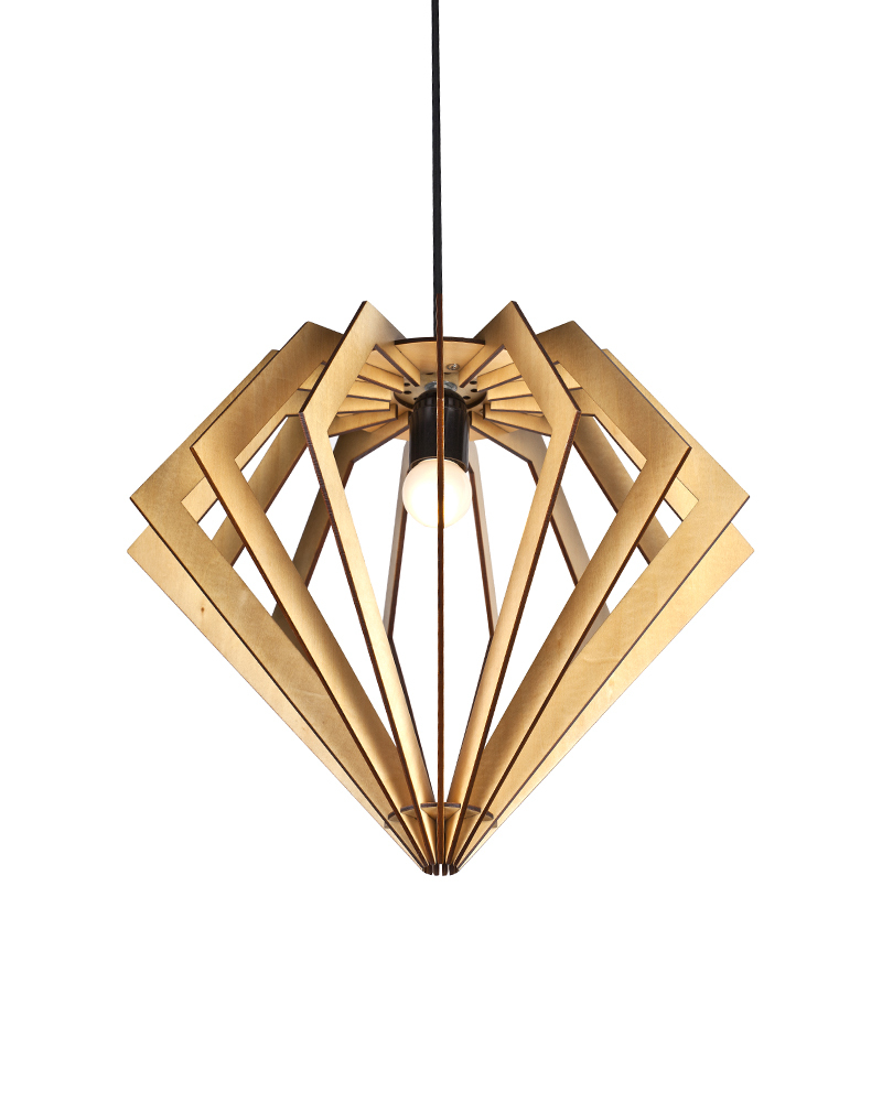 EMS Free Shipping E27 Pendant Light Large Diamond Wooden Shade     EMS Free Shipping E27 Pendant Light Large Diamond Wooden Shade Hanging Light  Pendant Lamp Fixture For Home Decorative 2LBMP HBS in Pendant Lights from