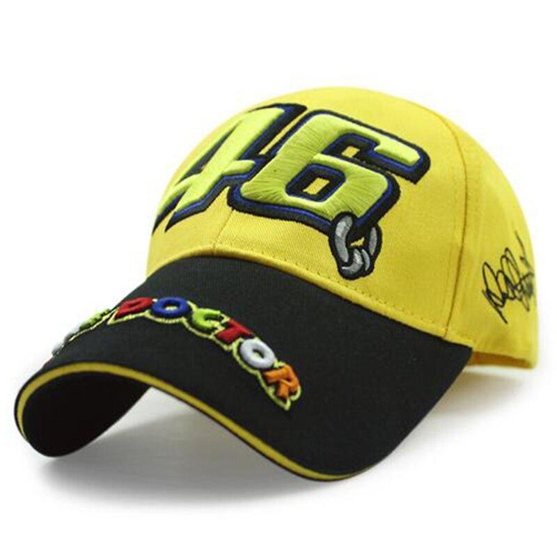 Prix pour 2016 Nouveau Coton 100% D'origine rossi VR46 cap MotoGP F1 Racing casquettes Baseball Casquettes de Sport Automobile Moto Soleil Chapeaux casquettes de golf