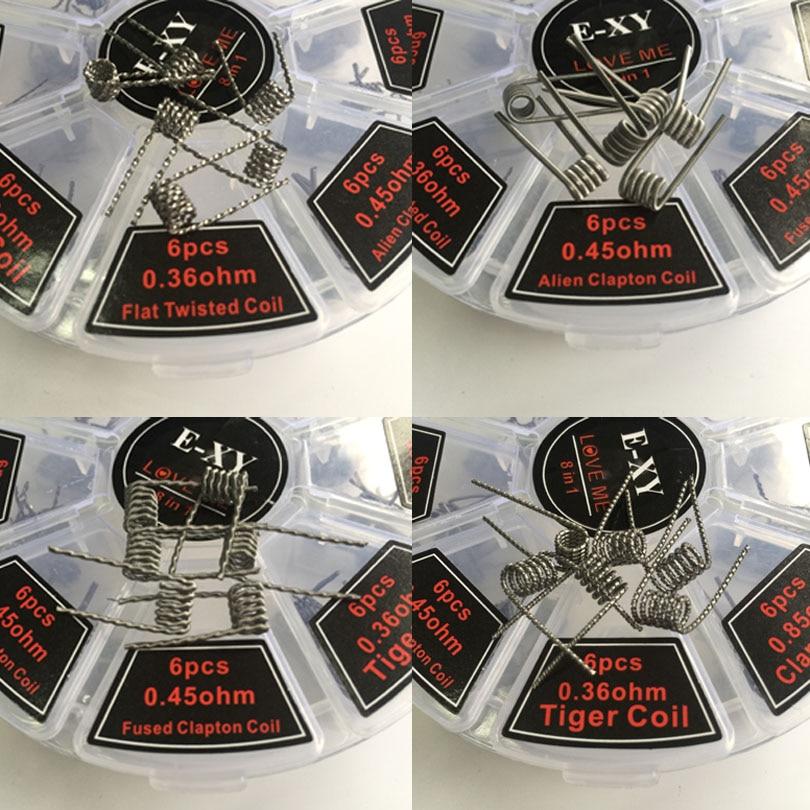 Elektronička cigareta 8 IN 1 Žica Prebuilt Coils Clapton Quad Tiger - Elektronske cigarete - Foto 5