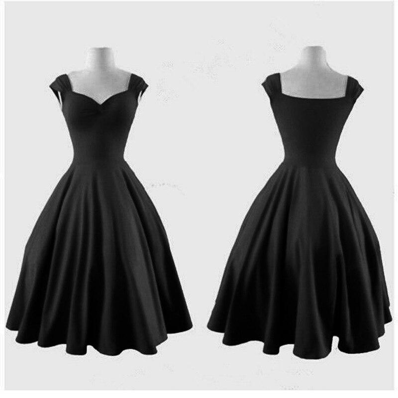 c6efb63399f6d 60s Rockabilly Clothing Hepburn Retro Big Swing Dress Plus Size 1950s  Vintage Dresses
