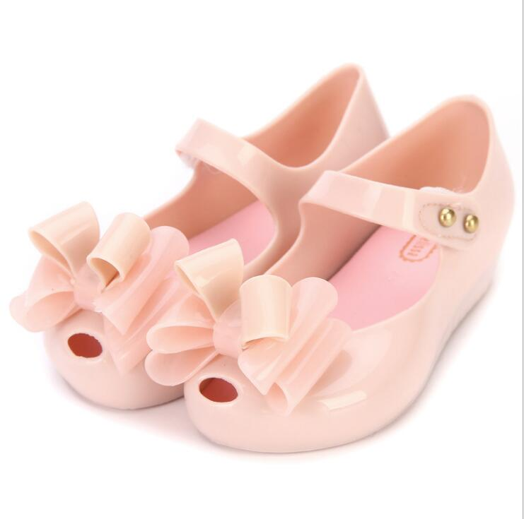 Multi-tiered Bow Shoes 2019 New Summer Children Mini Jelly Shoe Candy Soft Bottom Princess Girl Fish Head Sandals Kids