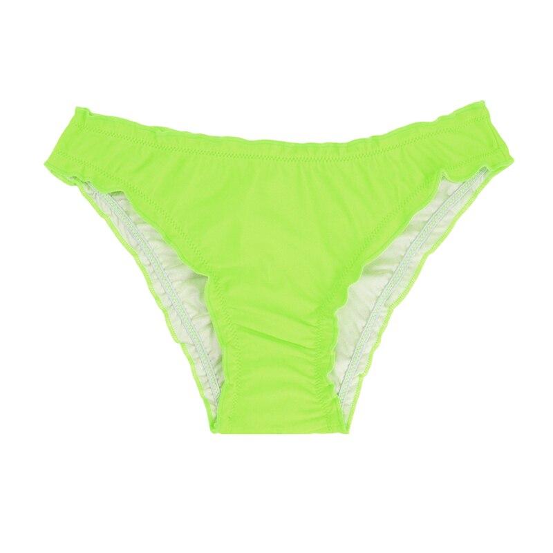 Женский купальник с низкой талией бикини снизу микро Chiffons печати двух частей отделяет плавки сексуальные купальник женский летний B607 - Цвет: B607E