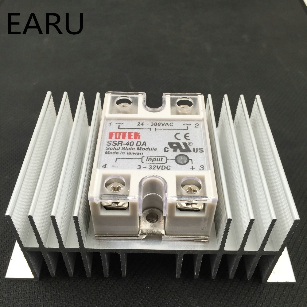 1 pc SSR-40DA Solid State Relay Module SSR-40 DA 40A Hot Sale Quality + 1 pc M / W type Heatsink Aluminum Radiator Combination all characters tracer reaper widowmaker action figure ow game keychain pendant key accessories ltx1