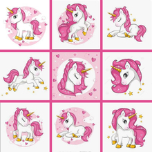 New 5d Diy Diamond Painting Unicorn Embroidery Cartoon pony rainbow childs Mosaic Sale Full Square Drill by number FDJB