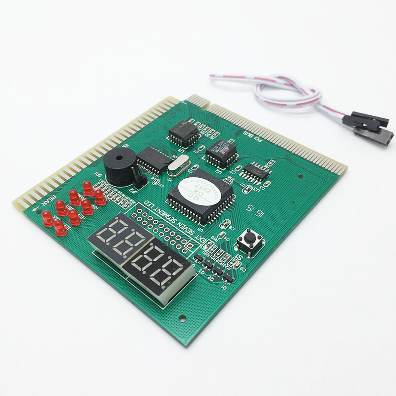 Computer Analysis PCI POST Card LCD Display Motherboard LED 4 Digit Diagnostic Test PC Analyzer Module pc laptop motherboard repair troubleshoot boot failure 4 digit diagnostic card