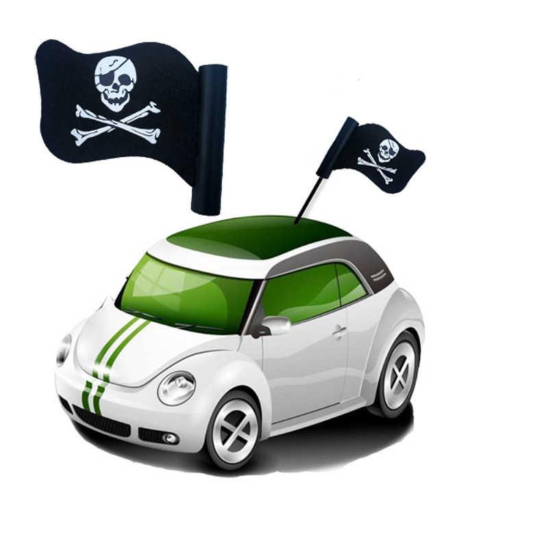 1 יחידות שחור גולגולת FlagAerial צילינדר מיקי כדורי אנטנה לרכב גג קישוט חמוד מצחיק Cartoon קצף חיצוני יפה FPV