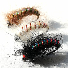 24pcs wet insects Fly fishing lure made of bright copper wire material Nymph Trout Fly Fishing Bait mnft 10 colors select 0 3mm 30m copper wire fly fishing lure bait making material midge larve nymph fly tying material