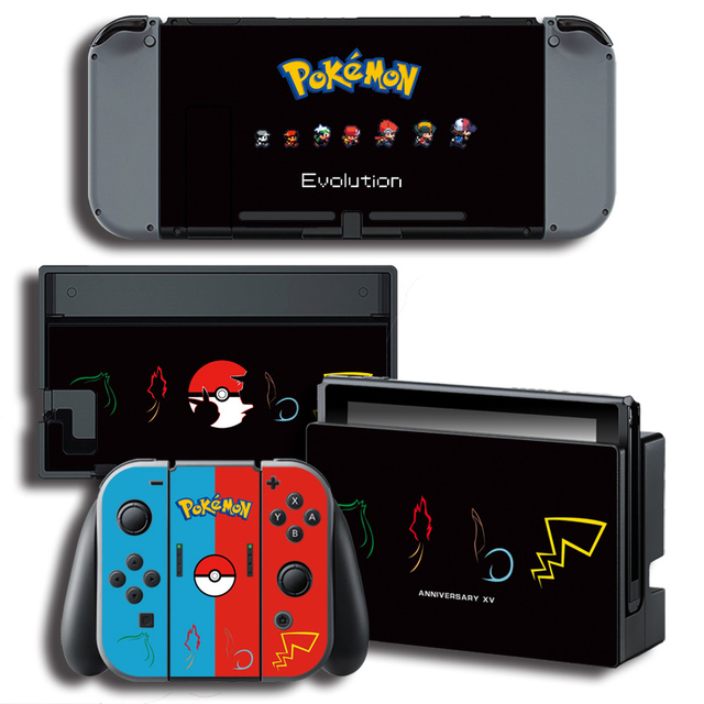 Vinyl Cover Decal Skin Protector Sticker for Nintendo Switch NS Console Skins for Pocket Monster Skins Stickers