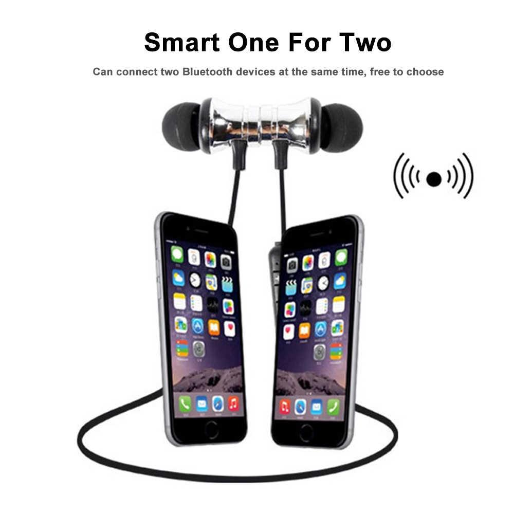 Leegoal atracción magnética auricular Bluetooth Headset deportes impermeables 4,2 Con Cable de carga joven auricular Mic construir-en
