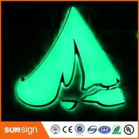 Custom advertising channel letter illuminated sign letters