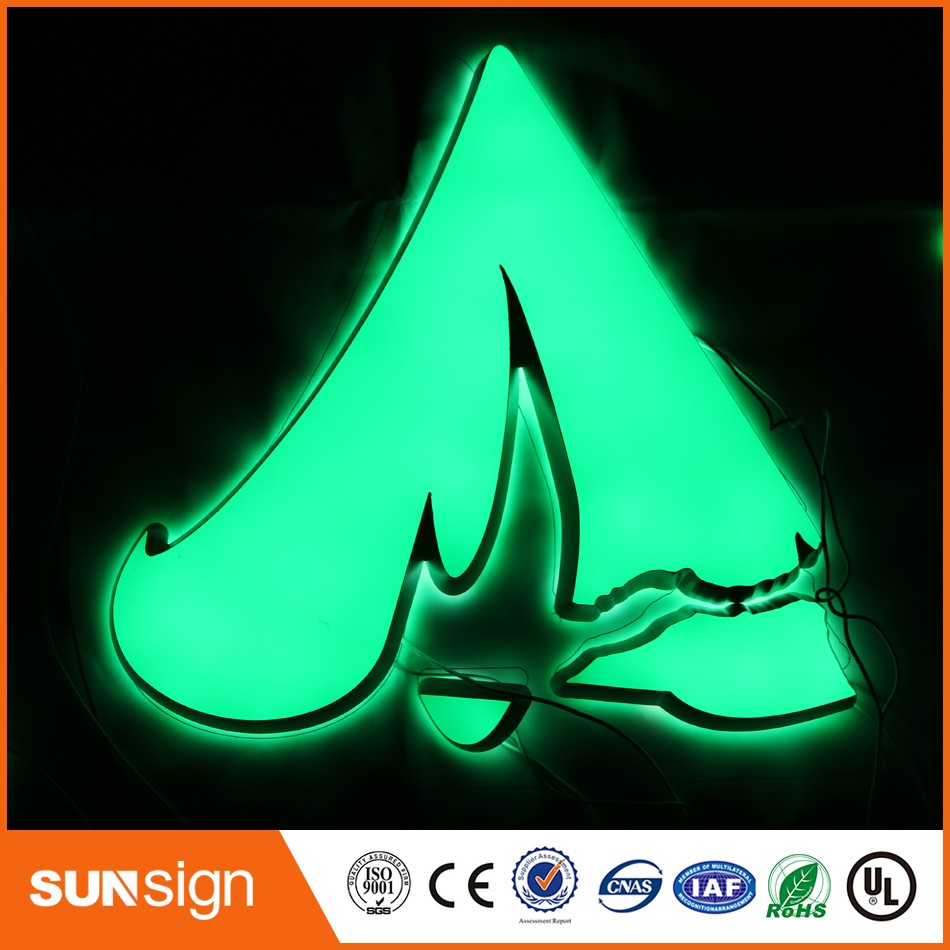 Custom Advertising Channel Letter Illuminated Sign Letters