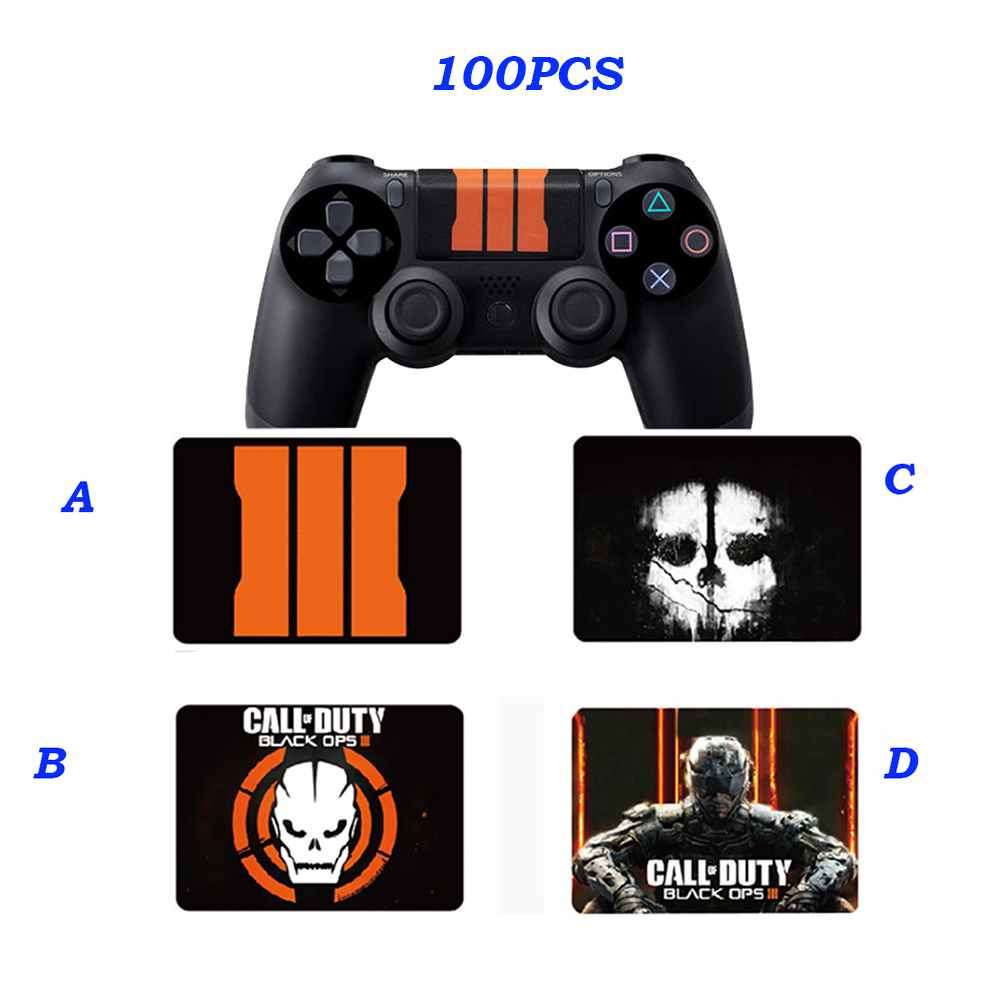 100PCS For Call of Duty & Skull Limited Edition Touch pad Decal Sticker For Playstation 4 PS4 Controller Skin Touchpad Bar