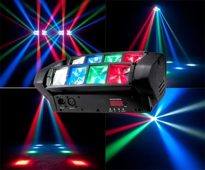 Hot Sell Mini Spider Moving Head 8x10w Cree LED RGBW Beam Stage Dj Disco Laser Show Sound Light
