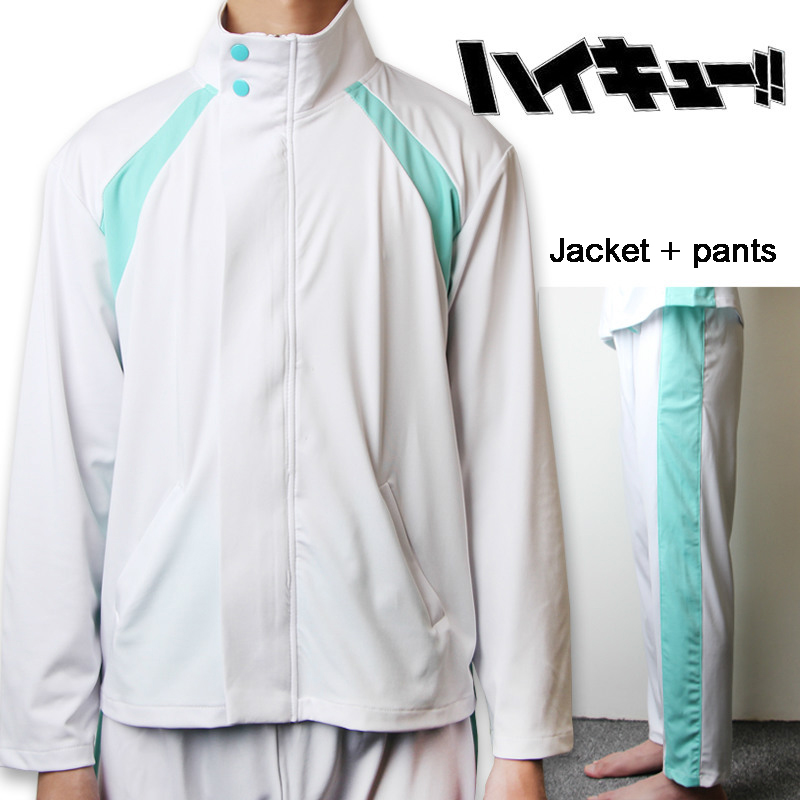 2019 Haikyuu!! Aoba Johsai High School Volley Ball Team Sprotswear Cosplay Costume Oikawa Tooru School Uniform Jacket And Pants