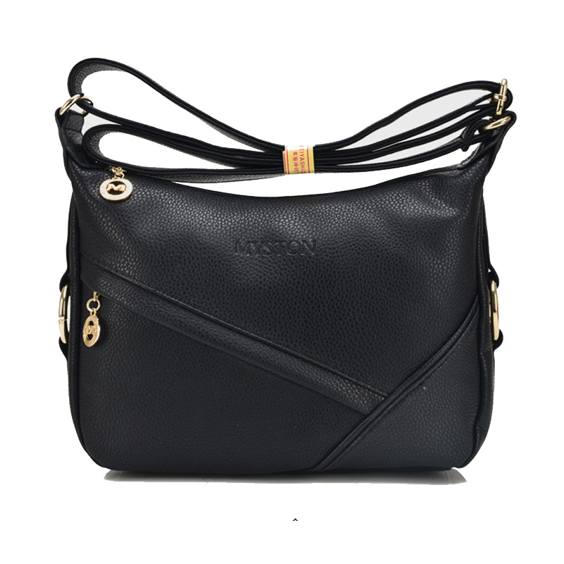 Fashion Women Genuine Leather Handbags Bag For Female Woman Black Shoulder Bag Women Handbag Crossbody Lady Travel Messenger Bag women s oil wax genuine cowhide leather backpack lady girl school bag crossbody shoulder travel bag for woman mr1037