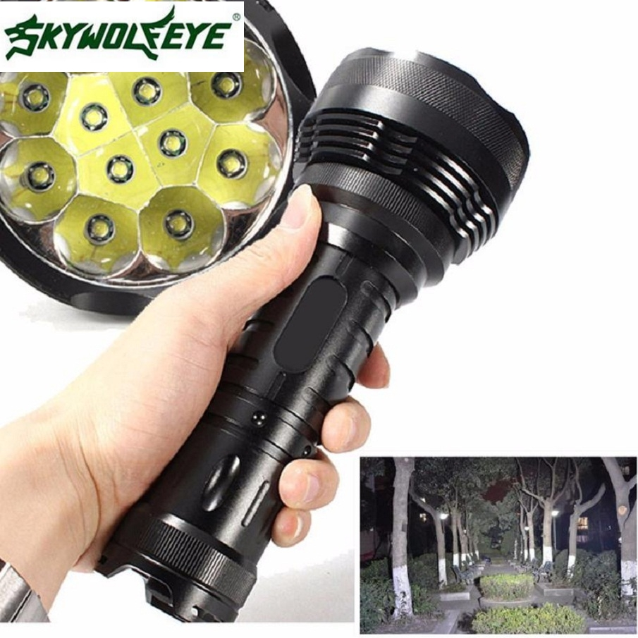 JA 6 Shining Hot Selling Fast Shipping 30000LM 12x XM-L T6 LED Flashlight 5 Mode Torch Light Lamp Waterproof 2 10 8 10 1 6 50010