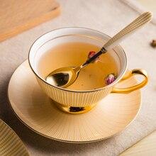 Kreative Geschenk Europäischen Königlichen Porzellan-becher Teetasse Kaffeetasse Tassen Und Untertassen 7 Farben Striped Tasse