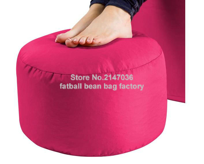 colorful lovely cute round fire resistant bean bag chairs floor footstool ottomans- Well-made bean bag ottoman home furniture