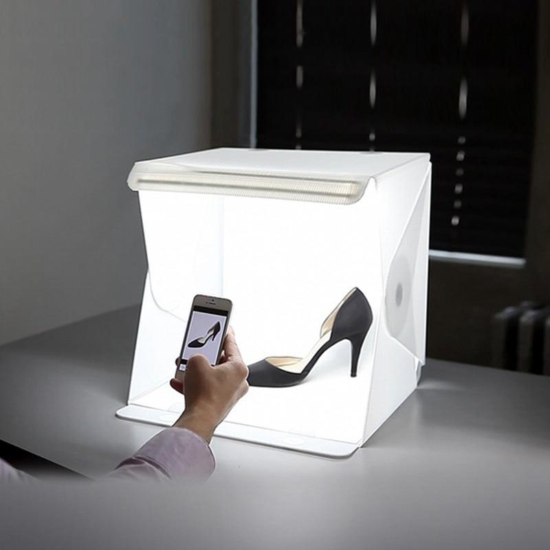 40*40cm mini light strips Professional Portable Mini Kit Photo Photography Studio led photo Light Box Softbox mini portable folding lightbox photography photo studio softbox lighting kit light box for iphone samsang digital dslr camera