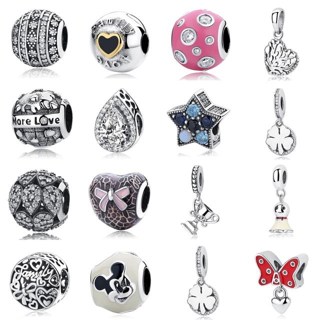 Bijoux à bricoler soi-même faire des femmes en forme de Pandora breloques perles en argent Sterling 925 Regalos originaux bisutérus Kralen Voor Sieraden Dsfefe
