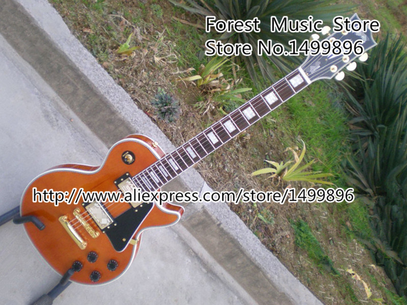 High Quality China LP Custom Electric Guitars Nature Wood Guitarra Body & Kits Left Handed Available high quality flag custom finish left handed es electric guitars china hollow body
