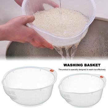 Rice Cleaner Rice Basket Wash Serve Colander Strainer Rice Basin Fruit Vegetable Tools Cooking Tools Kitchen Helper
