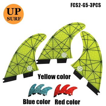 FCSII G5 M Size Surf Fins Surfboard Honeycomb blue/red/yellow FCS 2 Fin Hot Sell II Quilhas upsurf logo