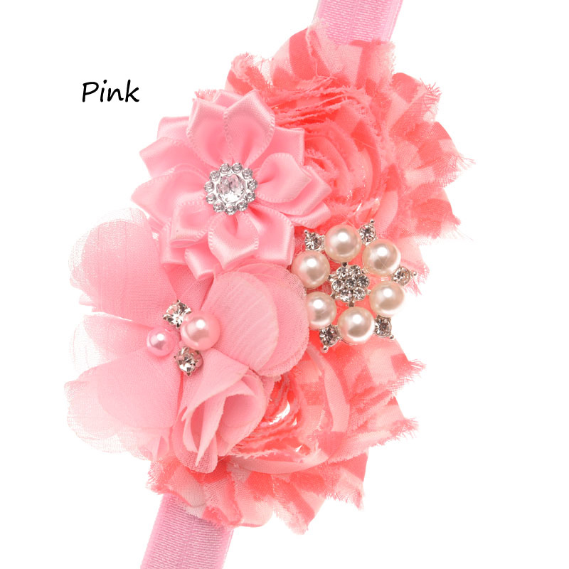 10pcs Shabby Chic Floral Print Flower Hair Accessories Bows Band Handmade Gift Fashion For Headwear Elastic Ban In From