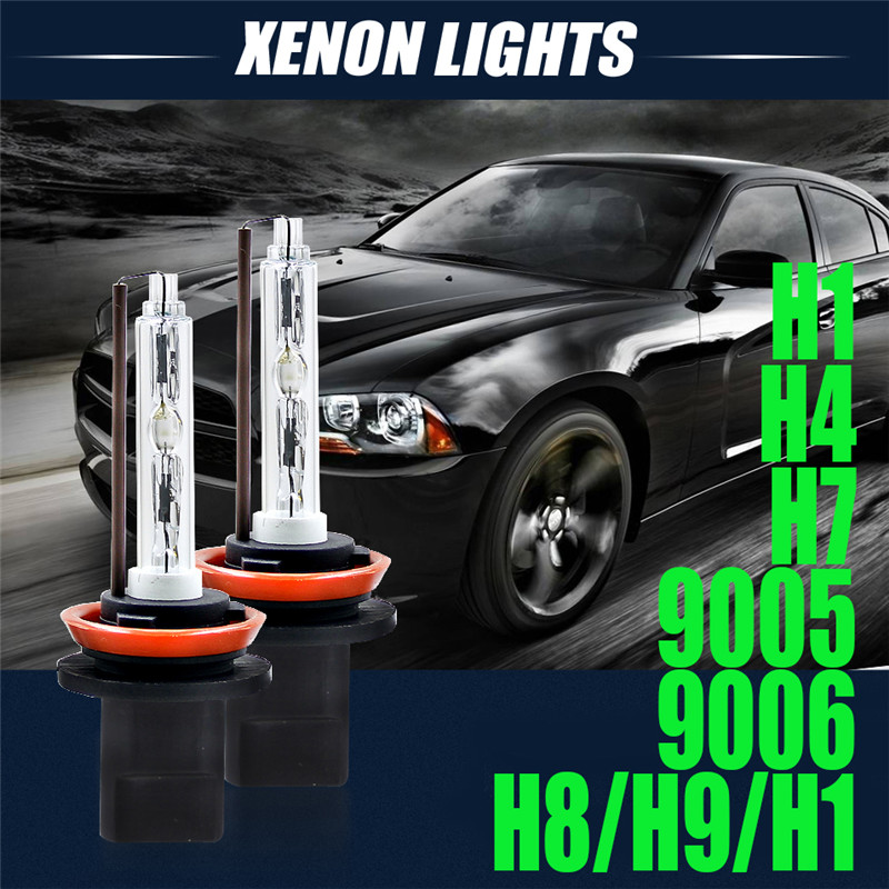 2pcs Head Lamp Bulbs H1 H4 H7 H8/H9/H11 9005 9006 55W Car Auto For HID Xenon Headlight Conversion KIT Light Bulbs 6000K DC12V 2 pcs h7 6000k xenon halogen headlight head light lamp bulbs 55w x2 car lights xenon h7 bulb 100w for audi for bmw for toyota