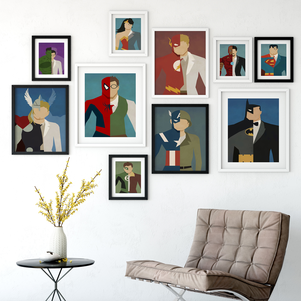 Popular batman art prints buy cheap batman art prints lots for Super cheap home decor