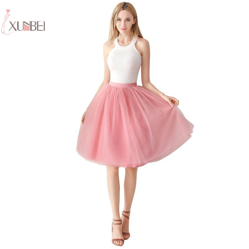 Rockabilly Tulle Bridal Wedding Petticoat Crinoline Short Mini Woman Tutu Skirt Underskirt Jupon Mariage Wedding Accessories