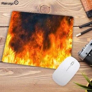 Image 2 - Mairuige alfombrilla de caucho para ratón diseño de fuego moderno, alfombrilla rectangular para ordenador portátil, ratón para jugador almohadilla para ratón de velocidad 220x180x2MM
