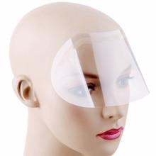 50Pcs/Set Disposable Transparent Plastic Face Shield Hair Salon Hairspray Masks