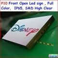 """P10 frente abrir led sinal 256 cm x 128 cm, 100.8 """"x 50.4"""", FRENTE ABERTA, cor cheia SMD de alto brilho, IP65 à prova d' água, Função WI-FI"""